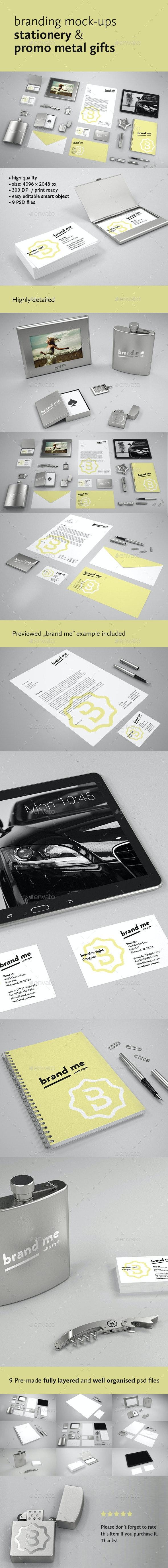 Branding Mock-ups Stationery & Promo Metal Gifts  - Stationery Print