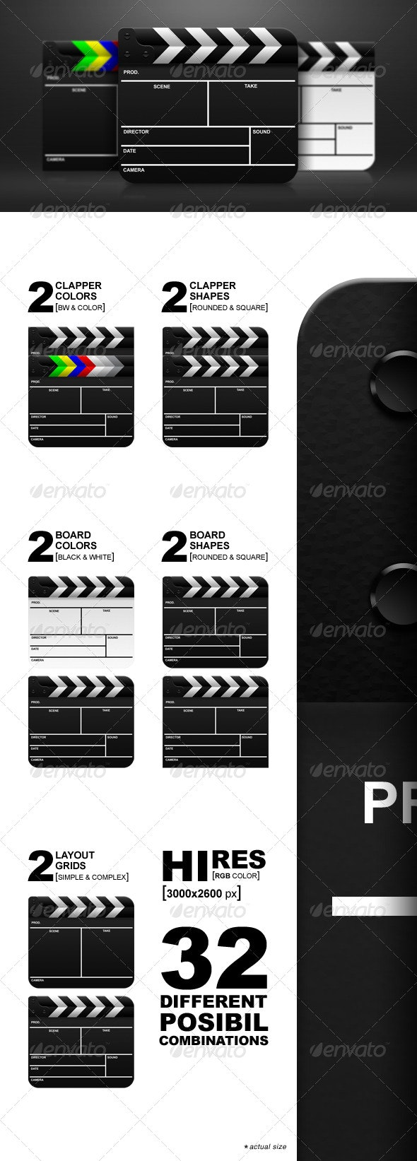 Film Clapperboard - Objects Illustrations