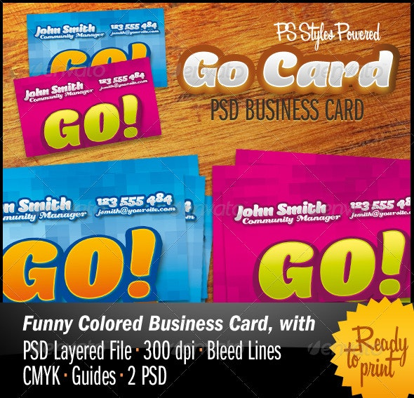 GoCard PSD Business Cards - Creative Business Cards