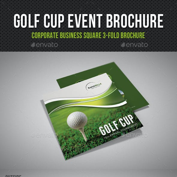 Golf Cup Event Square 3-Fold Brochure V01
