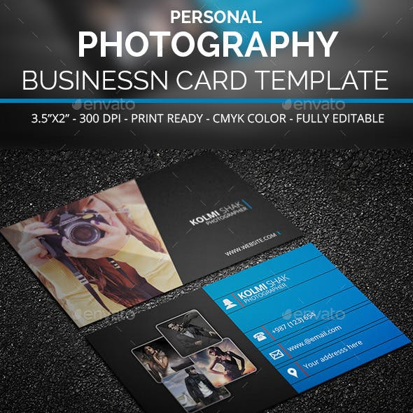 Personal Photography Business Card Template