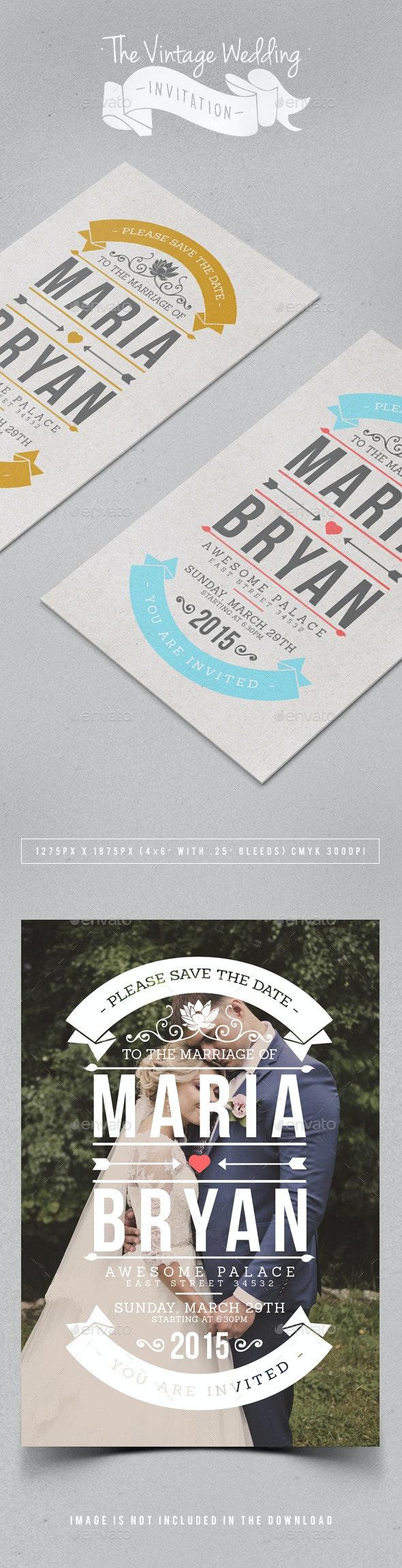 The Vintage Wedding Invitation - Weddings Cards & Invites