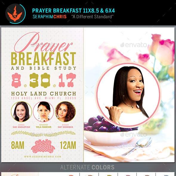 Prayer Breakfast Church Flyer Template
