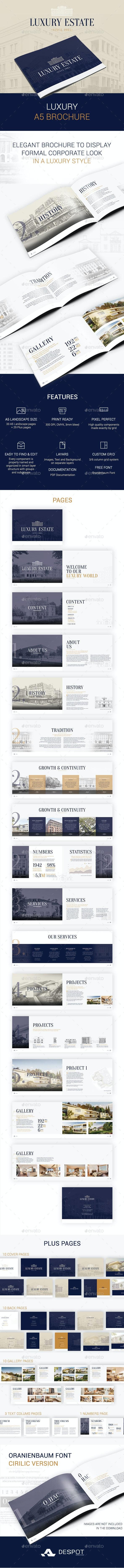 Luxury A5 Brochure - Brochures Print Templates