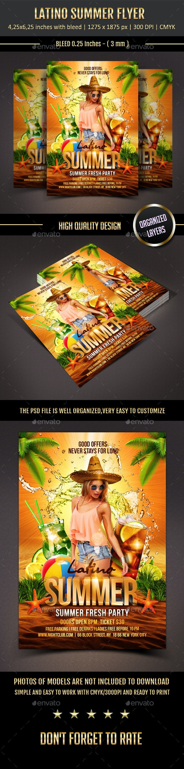 Latino Summer Flyer - Clubs & Parties Events