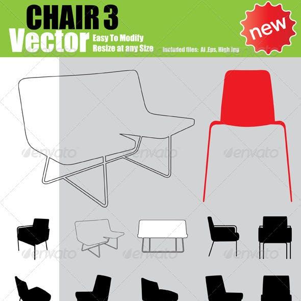 Vector Chair Silhouette Set