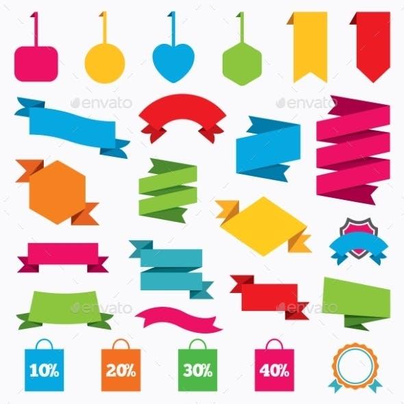 Sale Bag Tag Icons