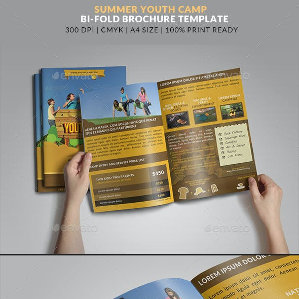 Summer Youth Camp bifold brochure 2
