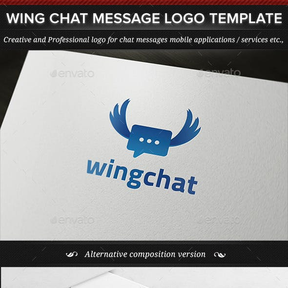 Wing Chat Message Logo Template