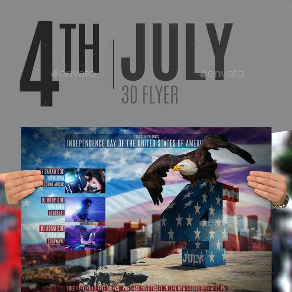 4th July 3D Flyer