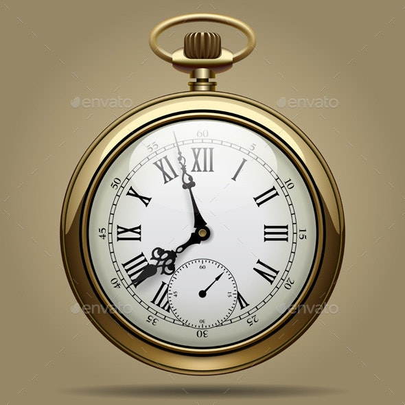 Old Clock - Objects Vectors