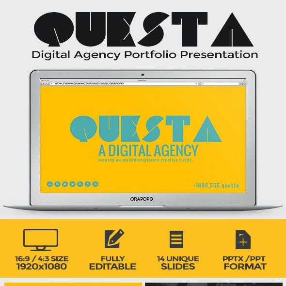 Questa Digital Agency Portfolio Presentation by orapopo
