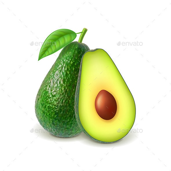 Avocado and Slice - Food Objects