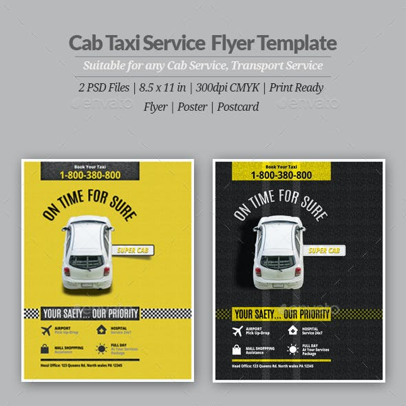 Cab Taxi Service Flyer or Poster