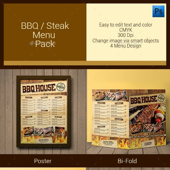 BBQ / Steak Menu Pack