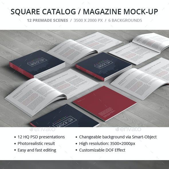Square Catalog / Magazine Mock-Up