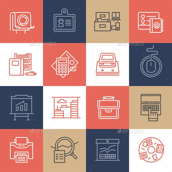 Office Life Icons Collection