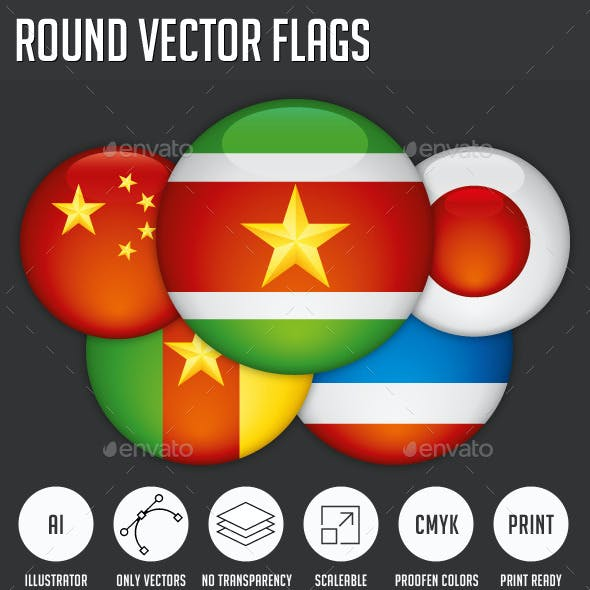 Round Vector Flags