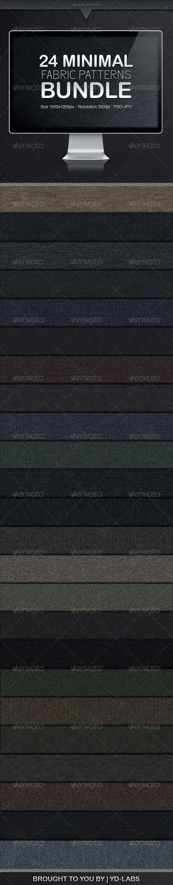 24 Minimal Fabric Patterns Bundle - Patterns Backgrounds