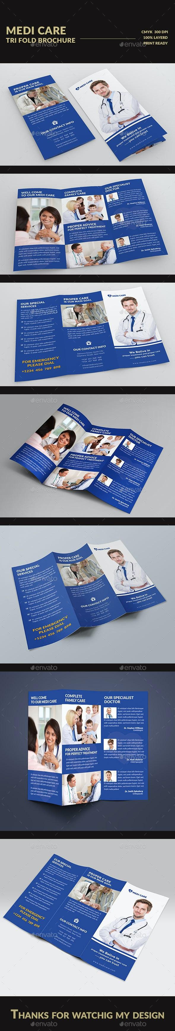 Medi Care  Tri fold Brochure - Brochures Print Templates
