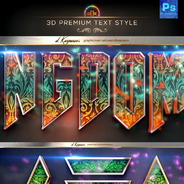 3D Premium Text Styles