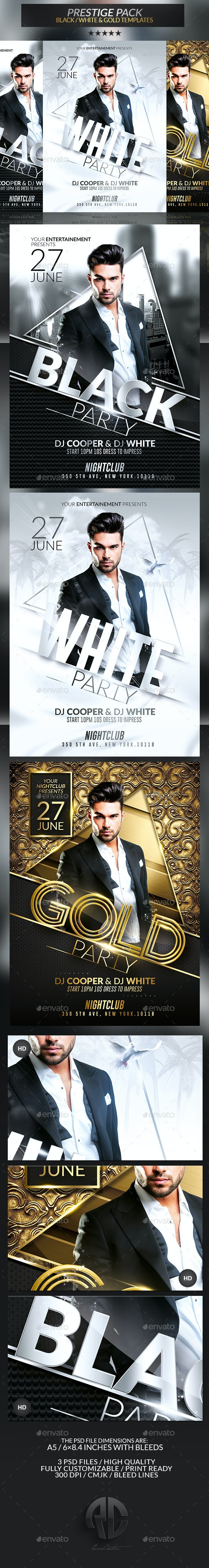 Prestige Pack   Psd Flyer Templates - Clubs & Parties Events