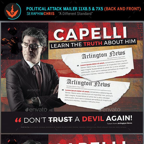 Political Attack Mailer Template