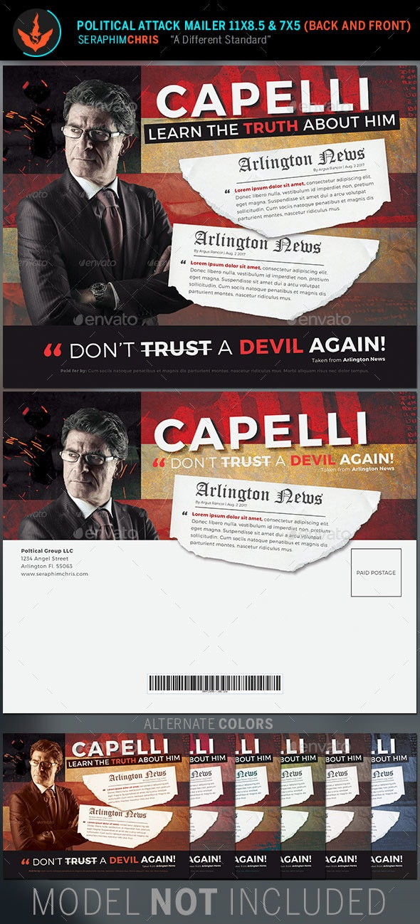 Political Attack Mailer Template - Corporate Flyers
