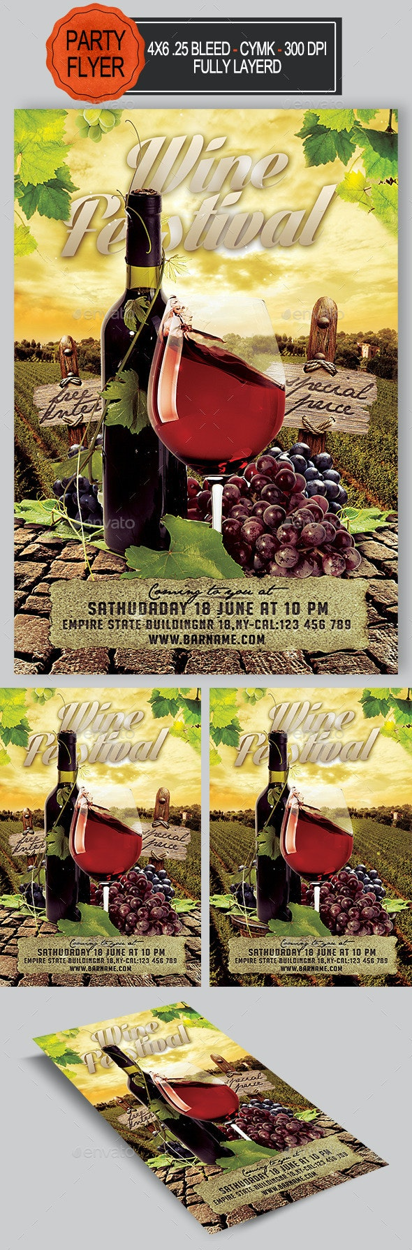 Wine Flyer - Clubs & Parties Events