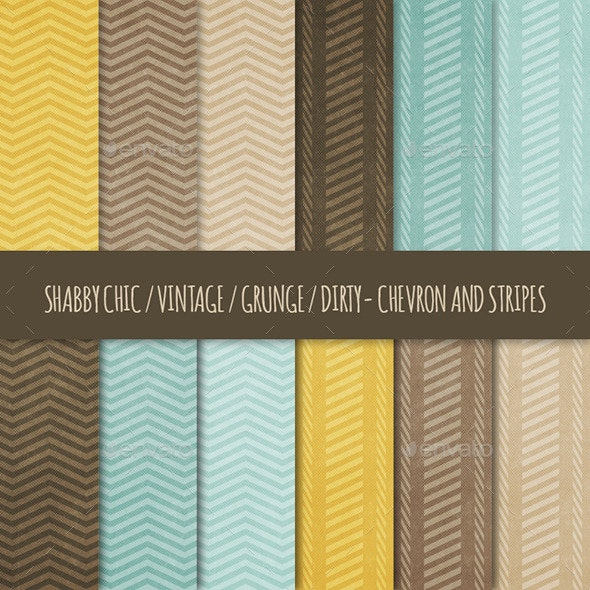 12 Grunge Chevron & Stripes Backgrounds - Backgrounds Graphics