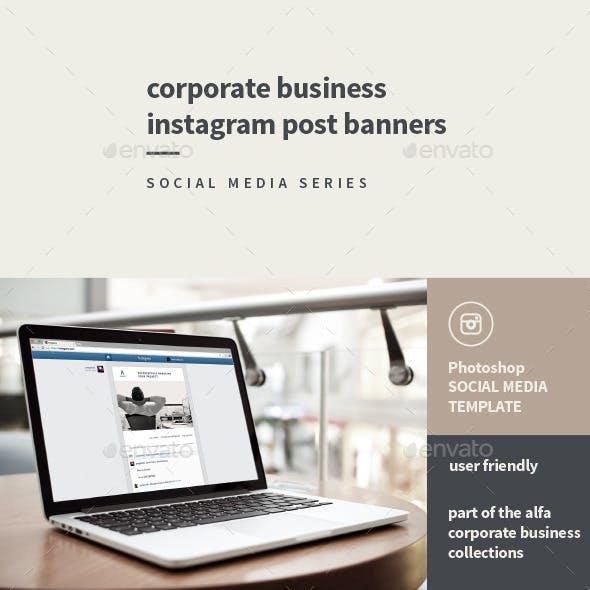 Corporate Instagram Banner Graphics, Designs & Template