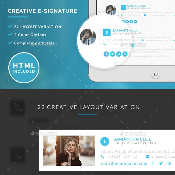 Creative E-signature