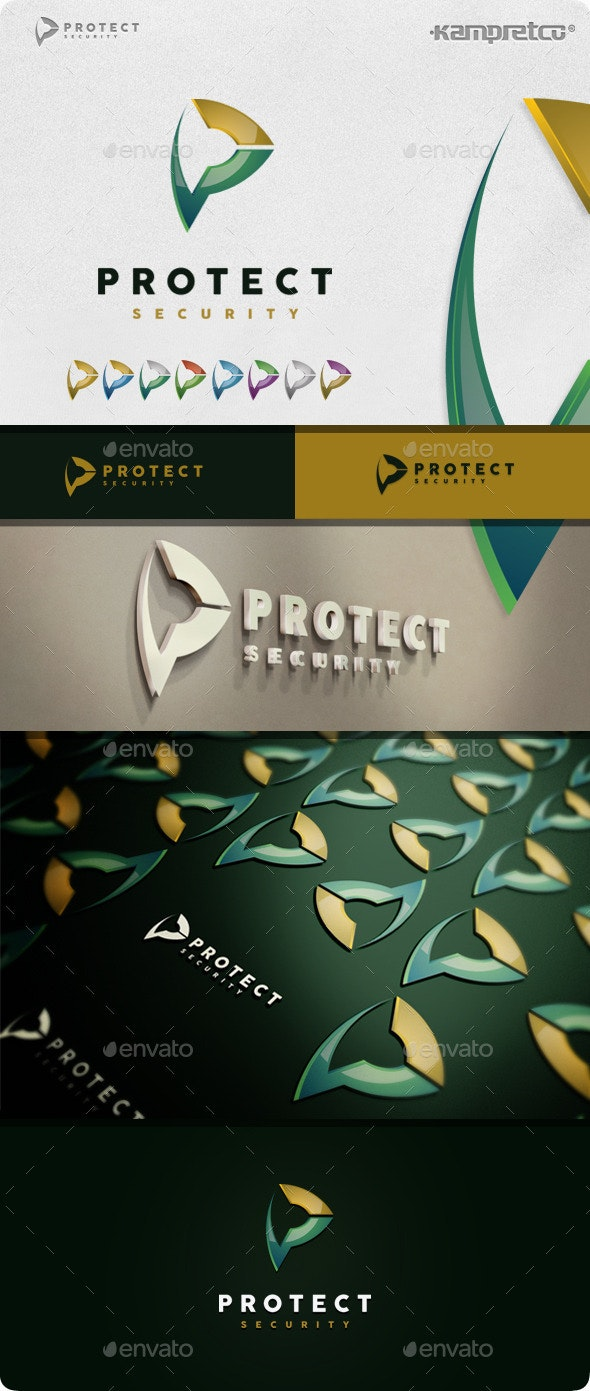Protect Secure Logo - 3d Abstract