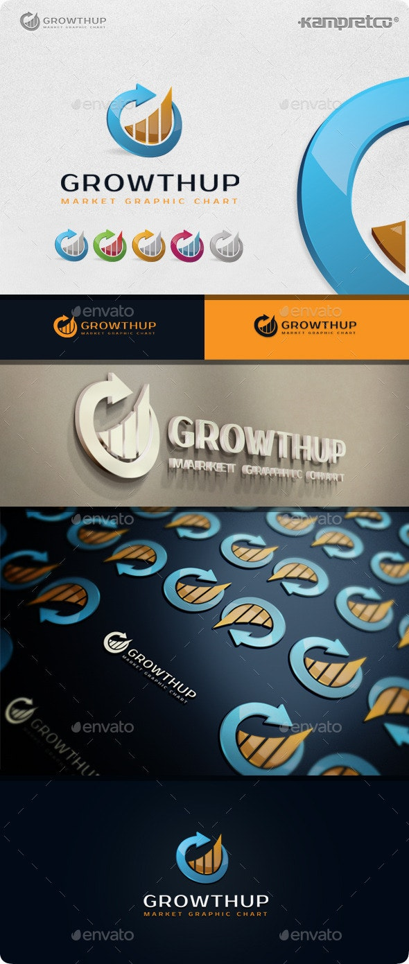 Growth Chart Logo - 3d Abstract