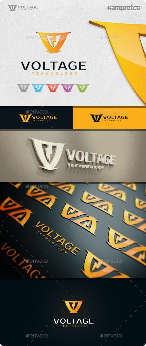 Storm Voltage Logo - Letters Logo Templates