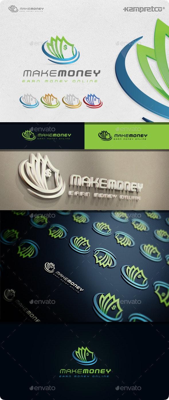 Make Money Logo - 3d Abstract