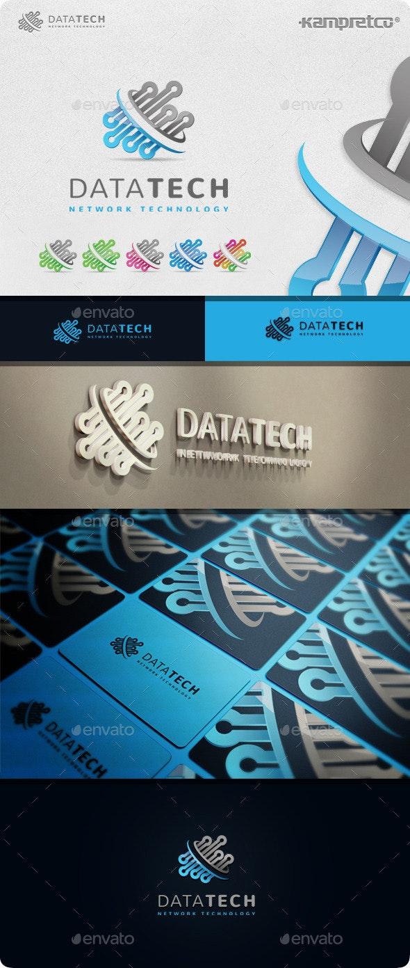 Data Tech Logo - 3d Abstract