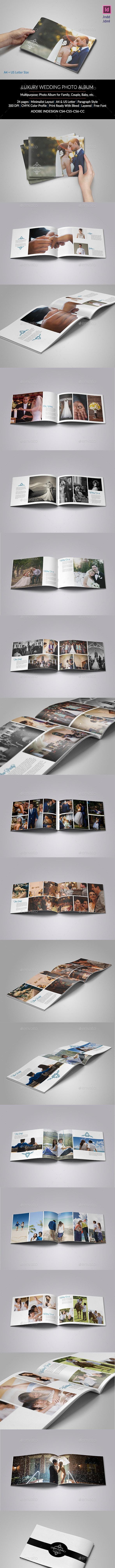 Luxury Wedding Album - Photo Albums Print Templates