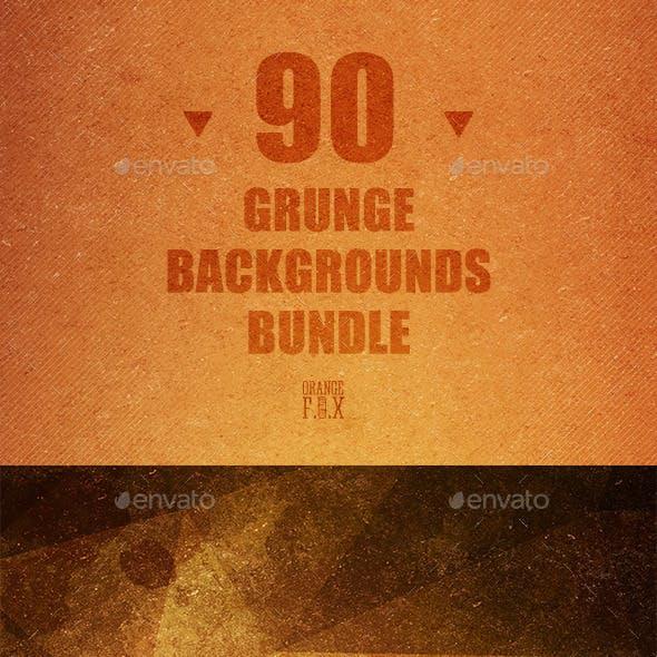 90 Grunge Backgrounds Bundle