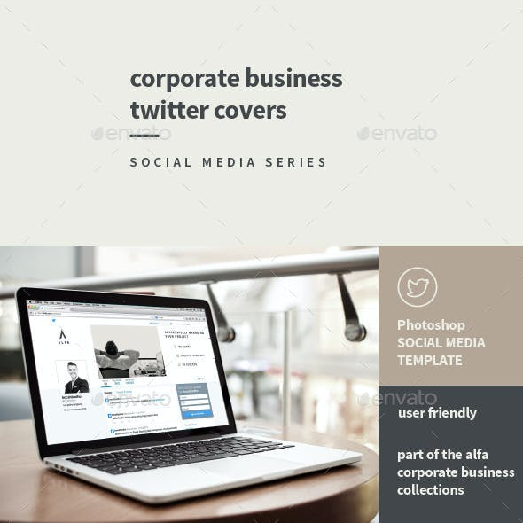 Corporate Business Twitter covers