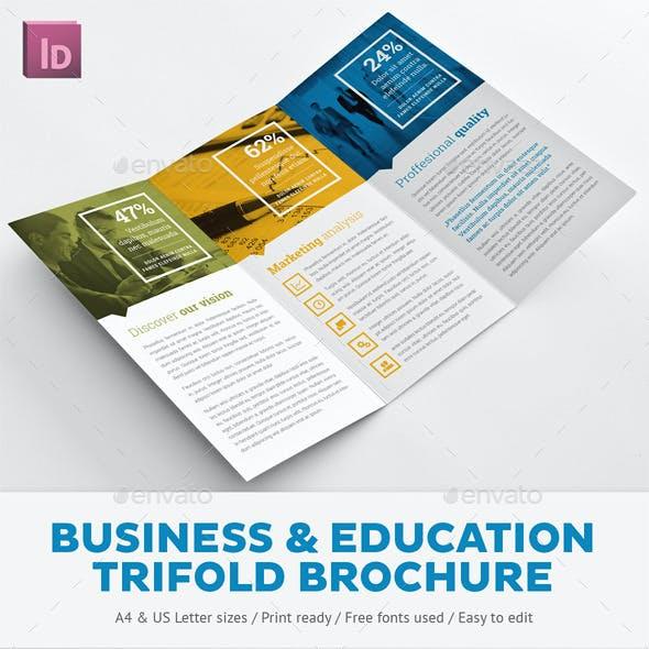 Business Branding & Education Trifold Brochure