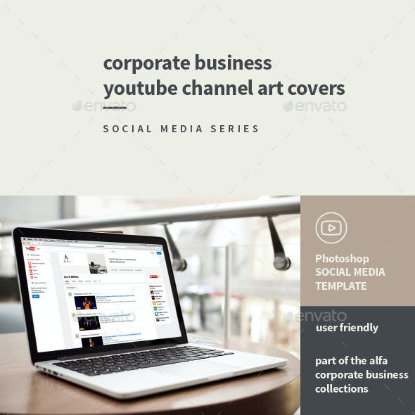 Corporate Business YouTube Channel Art Covers