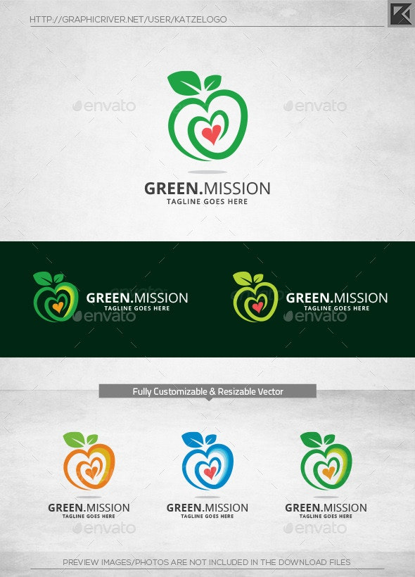 Green Mission Logo Template