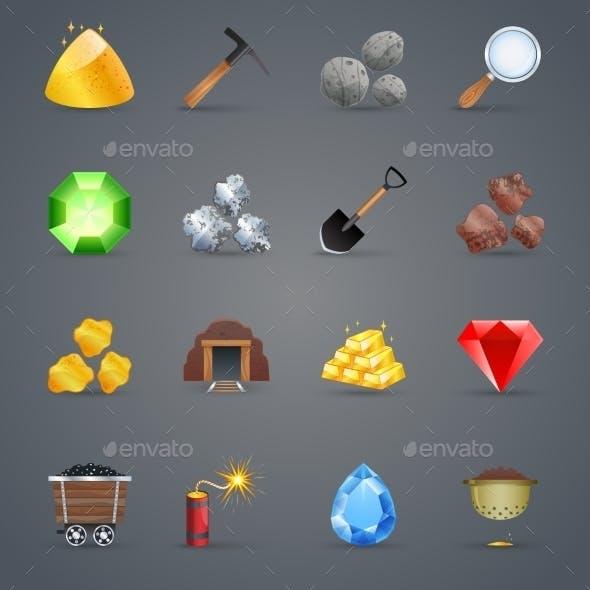 Mining Game Icons