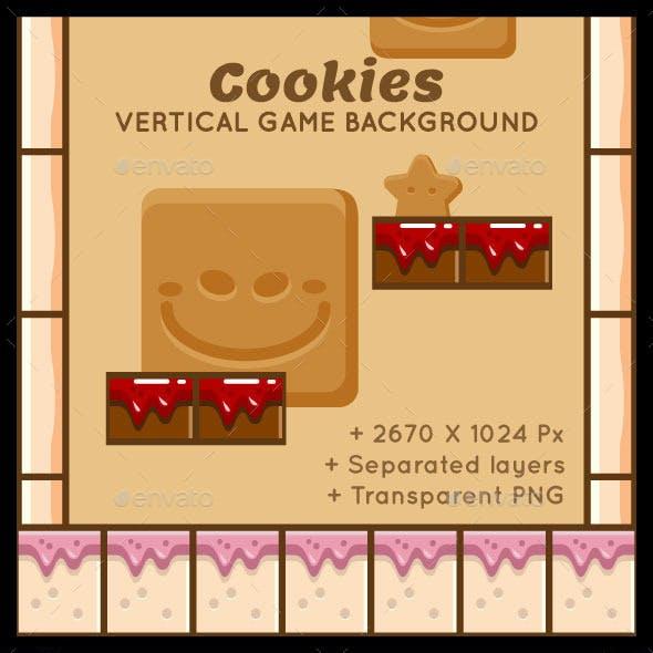 Cookies Vertical Game Background