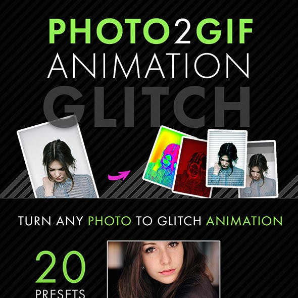 Photo2Gif: Glitch