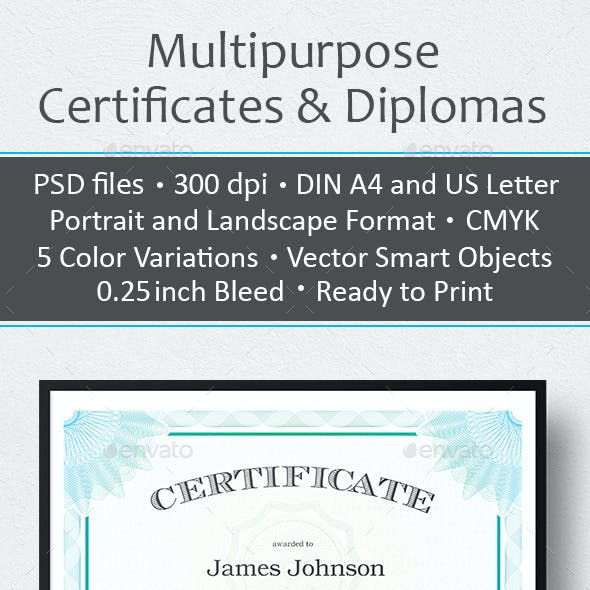 Multipurpose Certificates & Diplomas