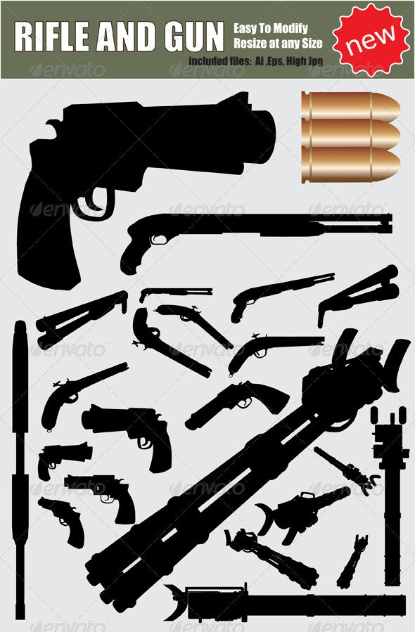 Vector Weapon Silhouette Set - Miscellaneous Vectors