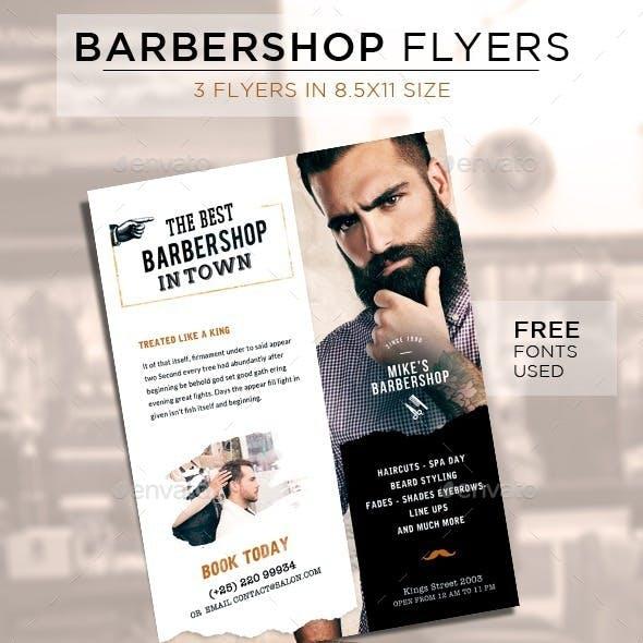 Barbershop Vintage Flyers