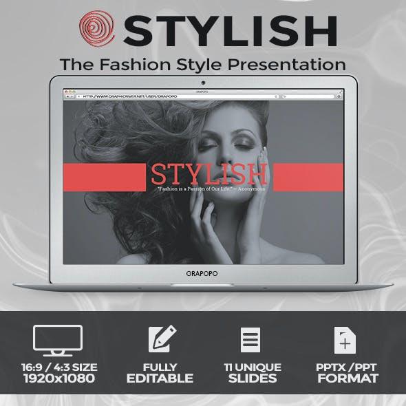 Stylish The Fashion Style Presentation
